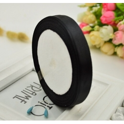 10mm Satin Ribbon - Black (25 yards)