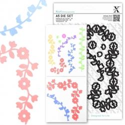 A5 Die Set (9pcs) - Floral Borders (XCU 503244)
