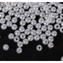 4mm Round Pearl Beads - White (200 pack)