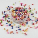 4mm Round Pearl Beads - Multi (200 pack)