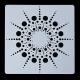 13 x 13cm Reusable Stencil - Sunburst Mandala (1pc)