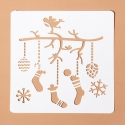 13 x 13cm Reusable Stencil - Christmas Stockings (1pc)