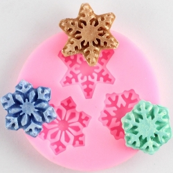 Small Silicone Mould - Snowflake Trio
