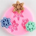 Small Silicone Mould - Snowflake Trio