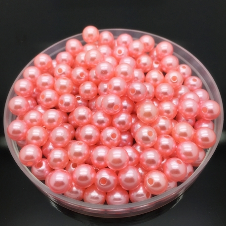 4mm Round Pearl Beads - Pink (200 pack)
