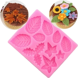 Small Silicone Mould - Christmas Leaves