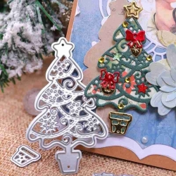 Printable Heaven die - Christmas Tree with Decorations (7pcs)