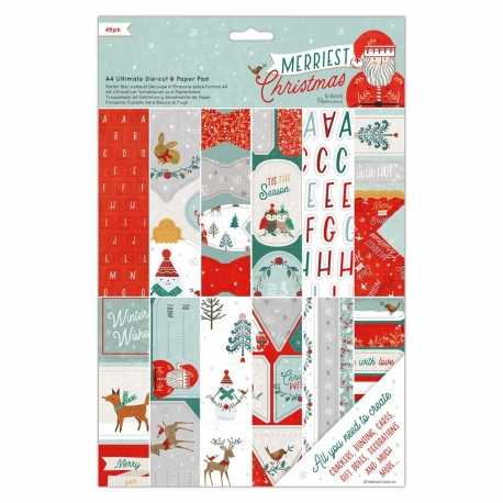 A4 Ultimate Paper & Die-cut pad - Merriest Christmas (PMA