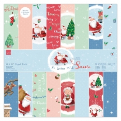 "12 x 12"" Paper pack - At Home with Santa (PMA 160961)"