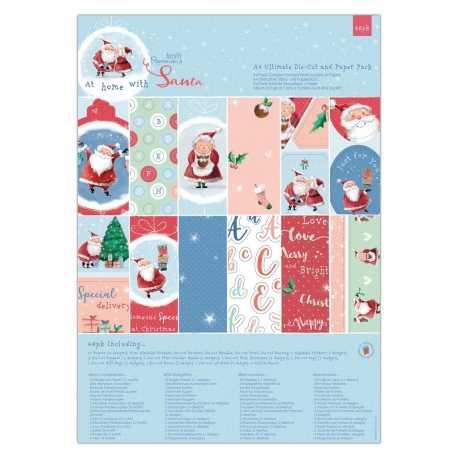A4 Ultimate Paper & Die-cut pad - At Home with Santa (PMA