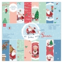 6 x 6 Paper pack - At Home with Santa (PMA 160962)