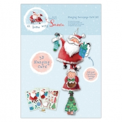 Hanging Decoupage Card kit - At Home with Santa (PMA 169956)