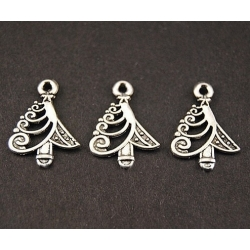 Metal Charms - Modern Christmas Trees (8)
