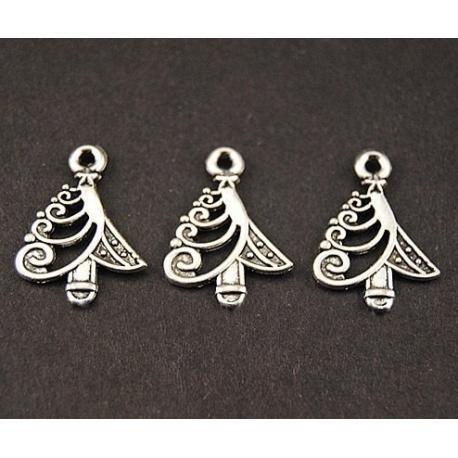 Metal Charms - Modern Christmas Trees (8)
