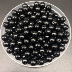 4mm Round Pearl Beads - Black (200 pack)