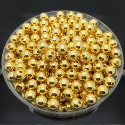 4mm Round Pearl Beads - Metallic Gold (200 pack)