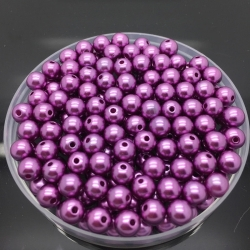 4mm Round Pearl Beads - Purple (200 pack)