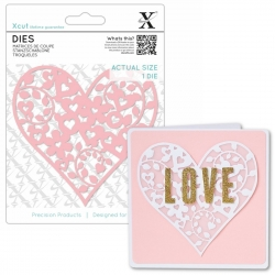 Xcut Dies - Floral Love Heart 1pc (XCU 503441)