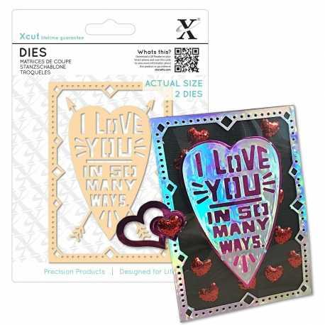 Xcut Dies - I Love You 2pcs (XCU 503388)
