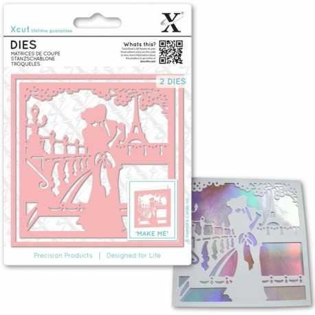 Xcut Dies - Paris in Love 2pcs (XCU 503381)