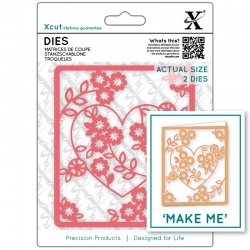 Xcut Dies - Floral Heart 2pcs (XCU 503093)