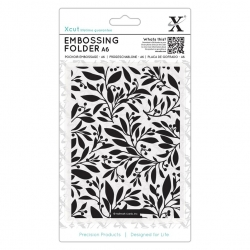 A6 Xcut Embossing Folder - Festive Florals (XCU 515921)