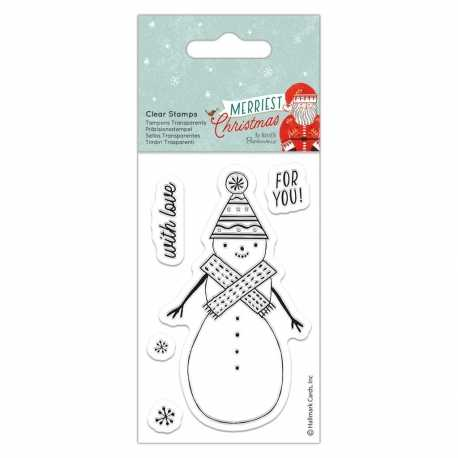 Merriest Christmas Clear Stamp - Snowman (PMA 907977)