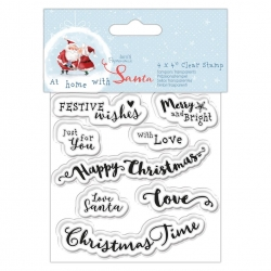 At Home with Santa Clear Stamp - Sentiments (PMA 907970)
