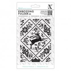 A6 Xcut Embossing Folder - Stag & Ivy (XCU 515923)