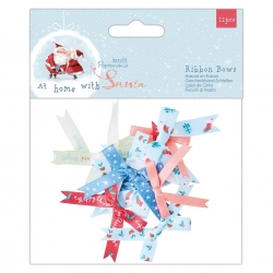 At Home with Santa Ribbon Bows 12pcs (PMA 367938)