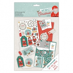 Merriest Christmas - A4 Decoupage Pad (PMA 169959)