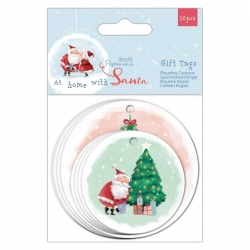 At Home with Santa - Shaped Gift Tags 20pcs (PMA 157982)