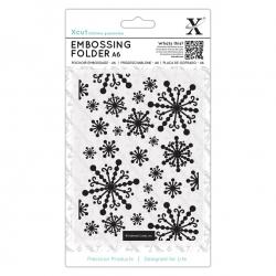 A6 Xcut Embossing Folder - Beautiful Snowflakes (XCU 515922)