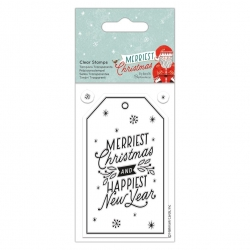 Merriest Christmas Clear Stamp - Gift Tag (PMA 907978)