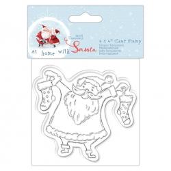 """At Home with Santa Clear Stamp - Santa 4x4"""" (PMA 907972)"""