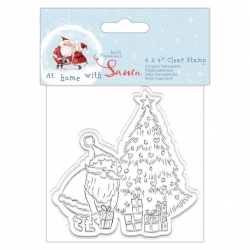 """At Home with Santa Clear Stamp - Tree 4x4"""" (PMA 907971)"""