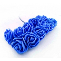 Foam Roses - Royal Blue (Bunch of 12)