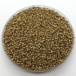 2mm Glass Seed Beads - Matt Gold (1000pcs)