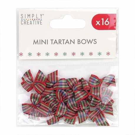 Simply Creative Christmas Tartan Bows (SCRBN007X20)