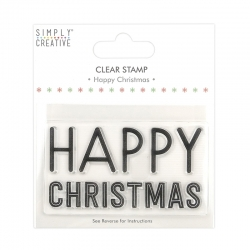 Simply Creative Large Clear Stamp - Happy Christmas