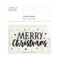 Simply Creative Large Clear Stamp - Merry Christmas (SCSTP039X20)
