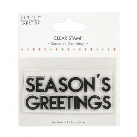Simply Creative Large Clear Stamp - Season's Greetings