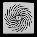 13 x 13cm Reusable Stencil - Catherine Wheel (1pc)