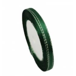 6mm Metallic-Edge Satin Ribbon - Dark Green (25 yards)