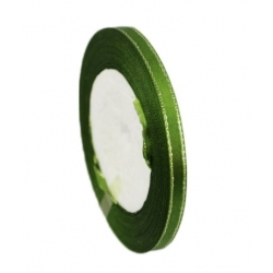 6mm Metallic-Edge Satin Ribbon - Christmas Green (25 yards)