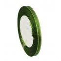 6mm Metallic-Edge Satin Ribbon - Christmas Green (25 yards)