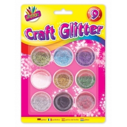 Artbox Craft Glitter Pots 9 pack (T6090)