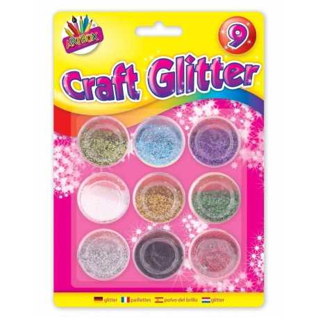 Artbox Craft Glitter Pots 9 pack (T6090)