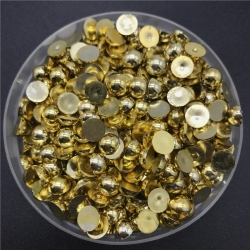 6mm Half-beads - Gold (100 pack)