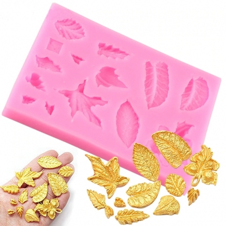 Small Silicone Mould - Autumn Leaves